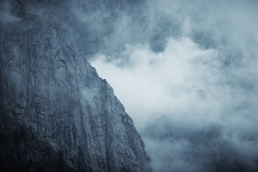 Dramatic Foggy Mountain