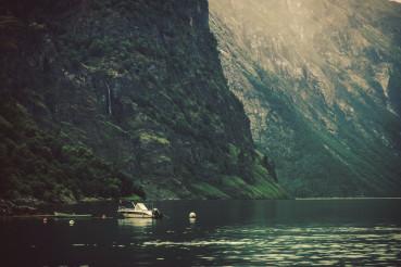 Dramatic Norwegian Fjord Landscape