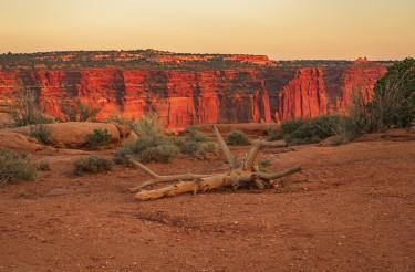 Dramatic Utah Desert Landscape Scenery During Sunset