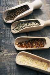 Dried Spices on Wood