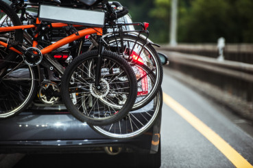 Driving with Hitch Bike Rack