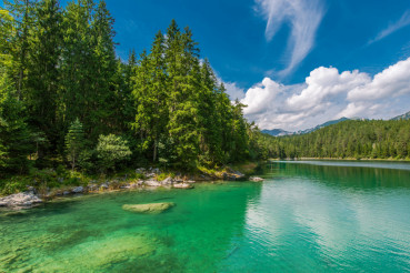 Eibsee Lake in Bavaria Germany