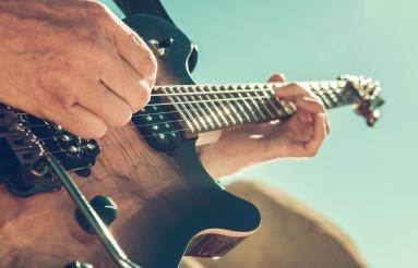 Electric Guitar Rock Music Performance