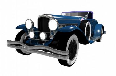 Elegant Classic Car Isolated