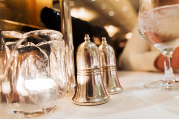 Elegant Restaurant Table Closeup
