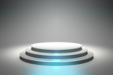 Empty Circular Podium