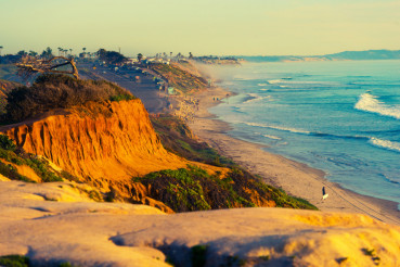 Encinitas Beach in California