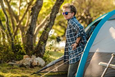 Enjoying Tent Vacation