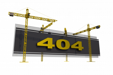 Error 404 Under Construction Concept 3D PNG Isolated Graphic