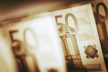 Euro Banknotes Closeup