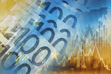 Euro Money Trading Concept