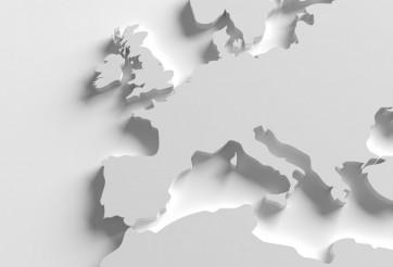 Europe 3D Map Illustration