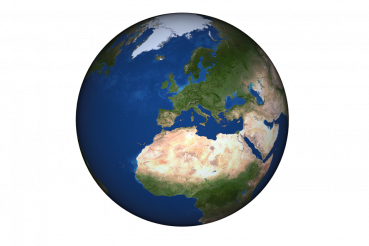 Europe Globe Isolated