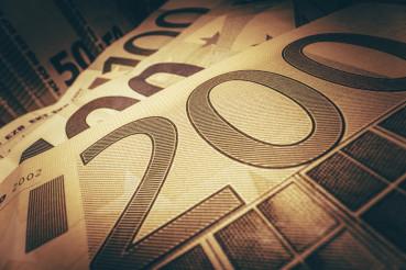 Euros Banknotes Macro