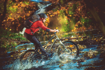 Extreme Bike River Crossing