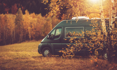 Fall Foliage RV Camper Van Road Trip