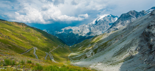Famous Stelvio Mountain Pass