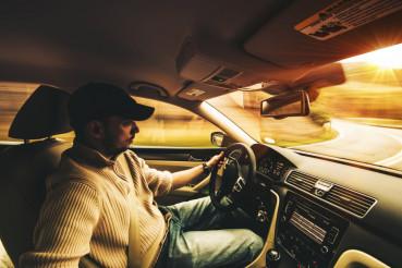 Fast Driving Car Interior