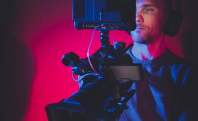 Film Making Professional Digital Camera Operator at Work