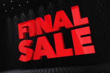 Final Sale 3D Lettering