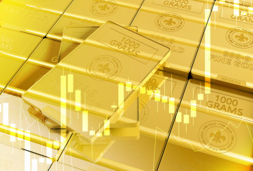 Fine Gold Bars 3D Illustration