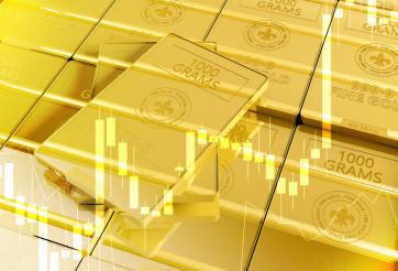 Fine Gold Bars 3D Illustration