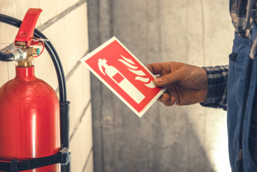 Fire Extinguisher Installation Inside Commercial Building