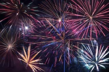 Fireworks Blast Background