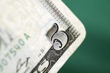Five Dollars Banknote Closeup