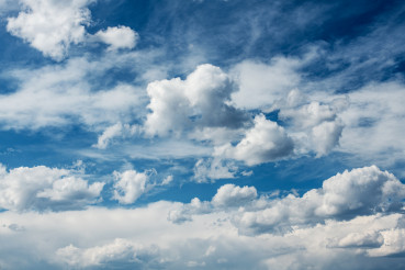Fluffy Cloudy Sky Nature Background