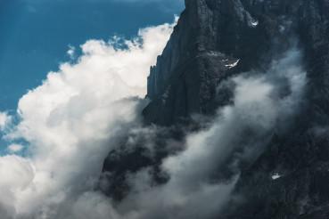Foggy Mountain Cliff
