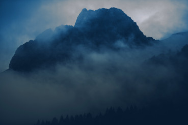 Foggy Wilderness Bluish Grading Background