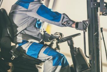 Forklift Caucasian Driver
