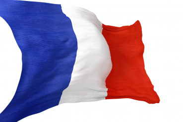 France National Flag Isolated