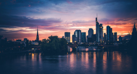 Frankfurt am Main Scenic Sunset