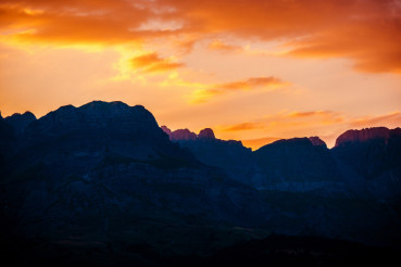 French Alps Sunset Scenery