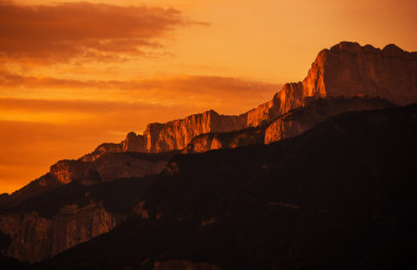 French Mountains Sunset