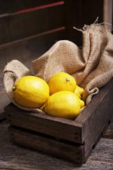Fresh Lemons in Crate
