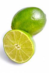 Fresh Limes on White
