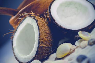 Fresh Open Coconut