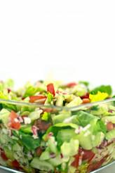 Fresh Salad on White