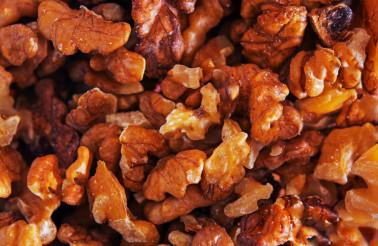 Fresh Walnuts Closeup