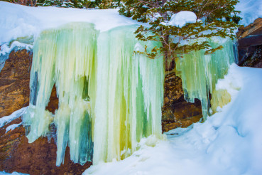 Frozen Waterfall Icicles