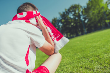Frustrated and Crying Polish Football Team Fan