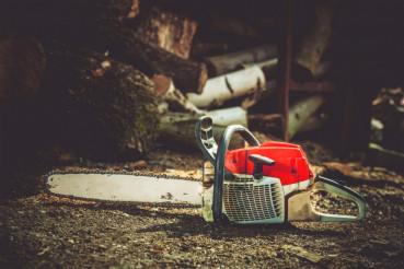 Gasoline Wood Cutter Works