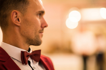Gentleman with Red Bow Tie