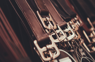 Genuine Leather Belts in Retail Store