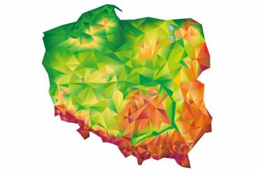 Geometric Poland Map Concept