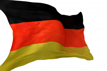 German National Flag Isolated