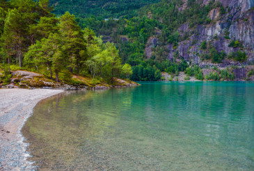 Glacial Lake in Norway
